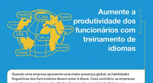 Para obter mais informações:Aumente a produtividade dos funcionários com treinamento de idiomas