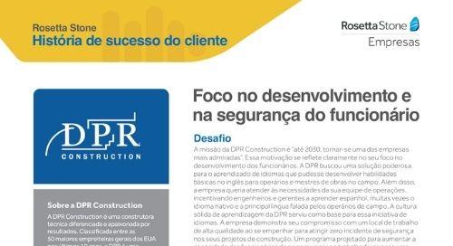DPR - História de sucesso do cliente