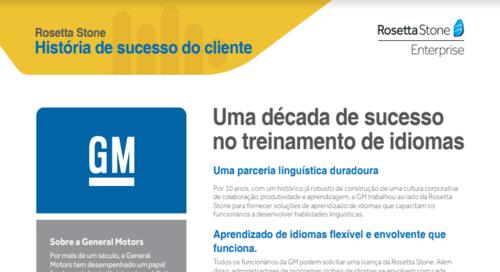 GM - História de sucesso do cliente