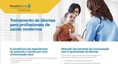 Treinamento de idiomas para profissionais de saúde modernos