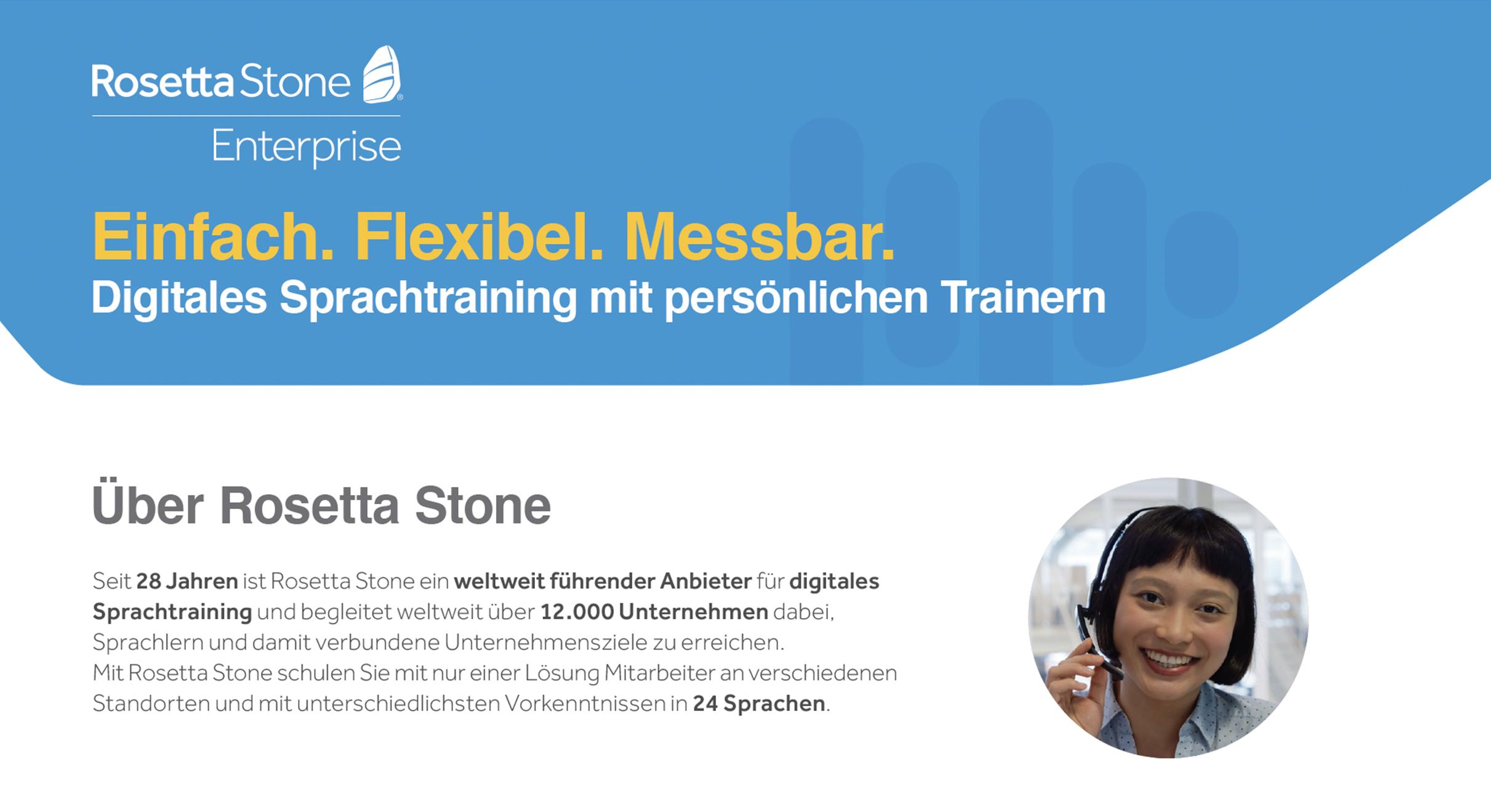 Einfach. Flexibel. Messbar. Digitales Sprachtraining mit persönlichen Trainern.