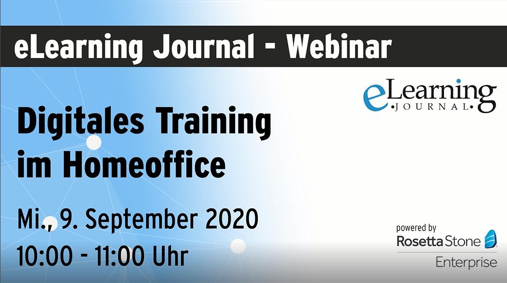 Webinar: Digitales Training im Homeoffice