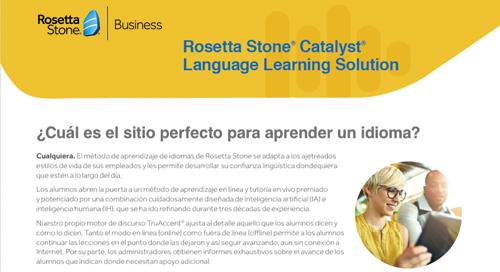 Rosetta Stone Catalyst Language Learning Solution - Español