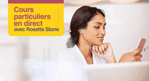 Cours particuliers en direct avec Rosetta Stone