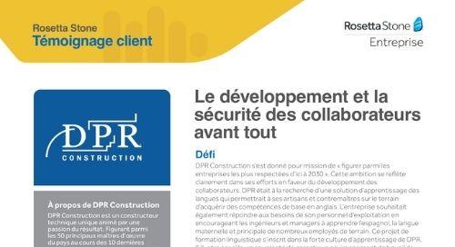 DPR - Témoignage client
