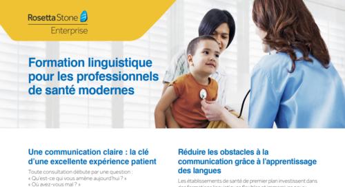 Formation linguistique pour les professionnels de santé modernes