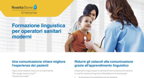 Formazione linguistica per operatori sanitari moderni