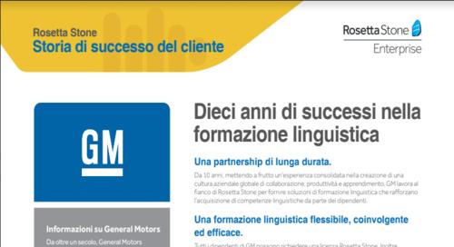 GM - Storia di successo del cliente