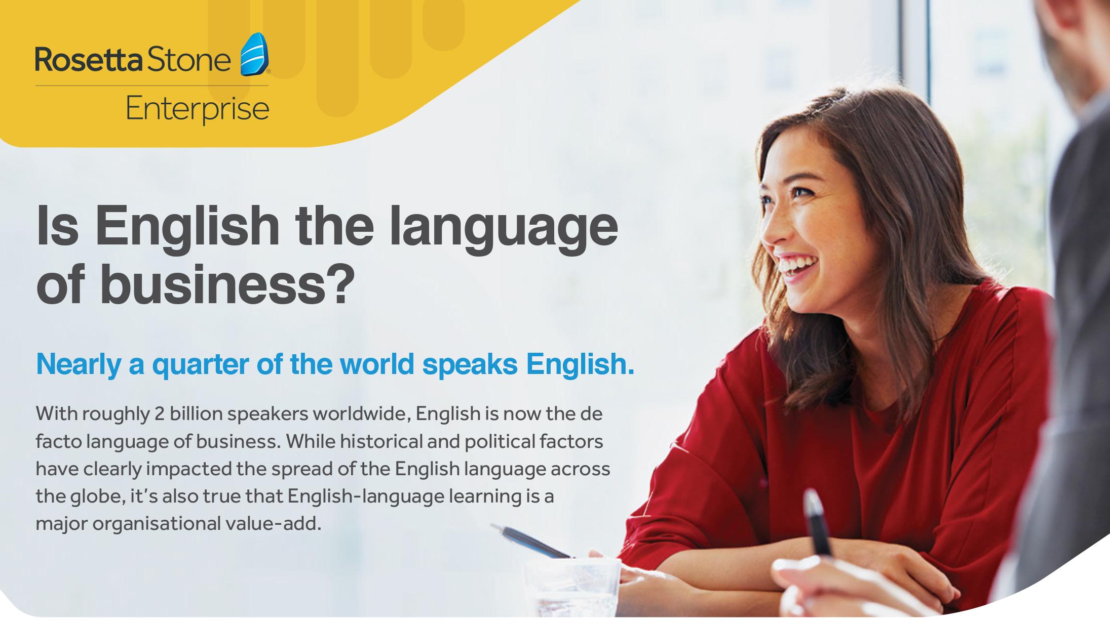 [Factsheet] Is English the language of business?