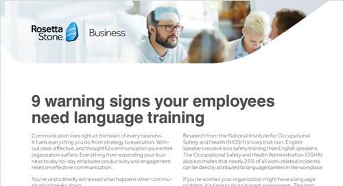 9 Warning Signs Your Employees Need Language Training