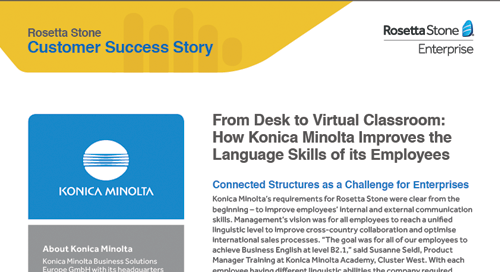 How Konica Minolta improved employee language skills
