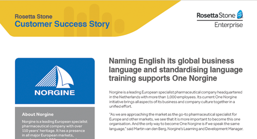 Language training supports One Norgine