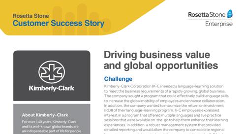 [Customer Story] Kimberly-Clark