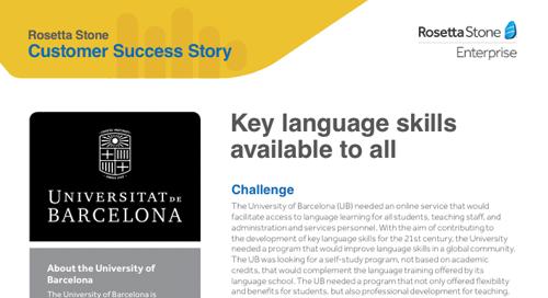 [Customer Story] University of Barcelona