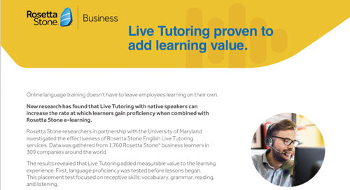 Live Tutoring proven to add learning value.